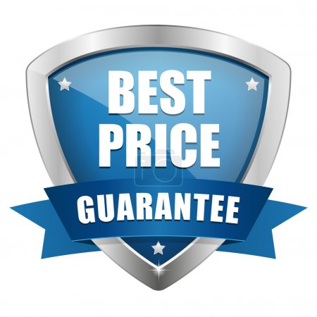 Illustration for Best price shield - Royalty Free Image