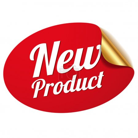 Red new product sticker...