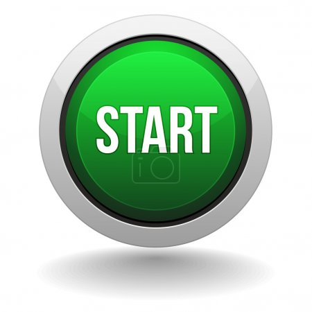 Big green start button