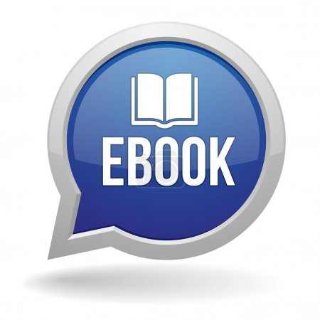 Blue ebook speach bubble