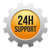 24 hodinová podpora zařízení tlačítko