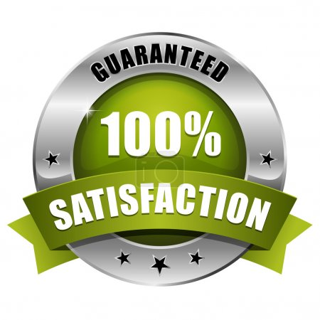 Green hundred percent satisfaction seal