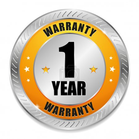Yellow one year warranty seal