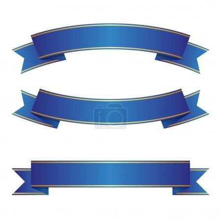 Illustration pour Ensemble de ruban bleu - image libre de droit