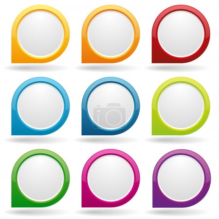 Colorful point buttons