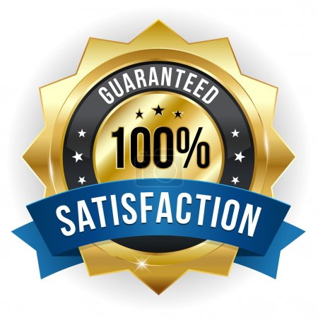 Hundred percent satisfaction badge