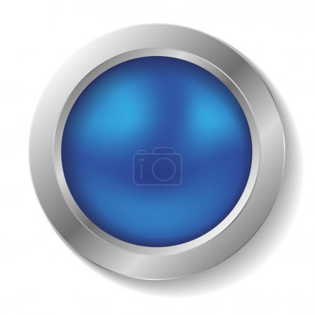 Illustration for Blank blue round button - Royalty Free Image