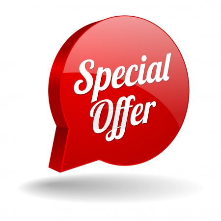 Illustration for Red special offer button - Royalty Free Image