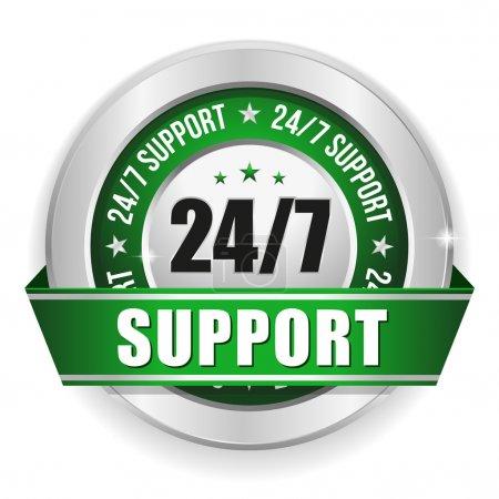 Twenty for seven support badge