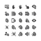 Biometric Icons Set