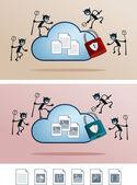 Datei in die Cloud-Speicher von Computer-Virus befallen