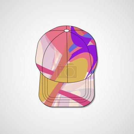 Abstract illustration on peaked cap