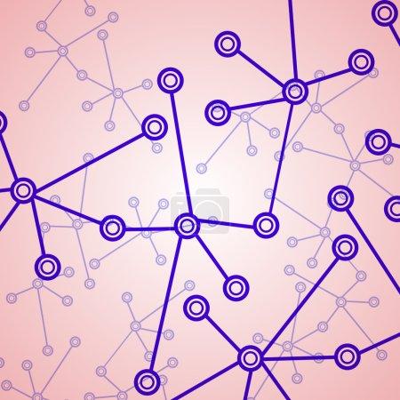 Molecule background, colorful illustration