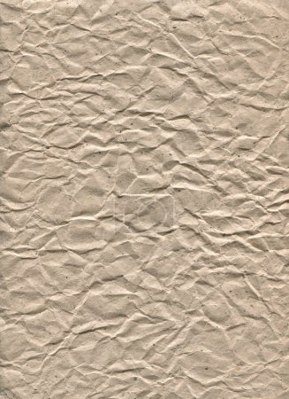 Kraft paper strongly crumpled