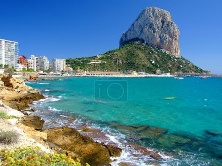 Beach in Calpe,Spain