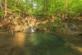 Beautiful waterfall,cascades and clean river in forest
