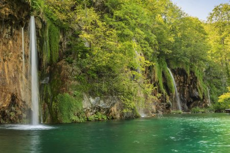 Waterfalls in the forest,Plitvice National Park,Croatia,Europe