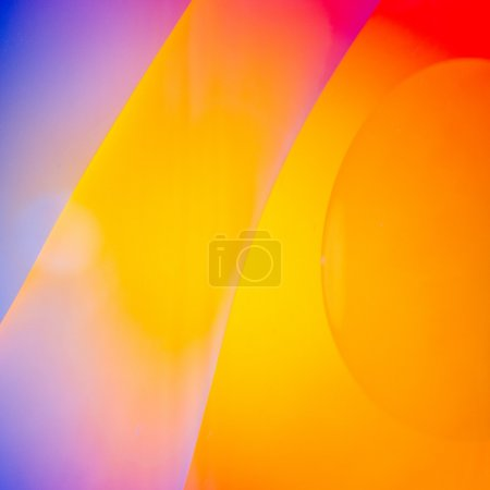 Bright And Colorful Oil In Water Abstract Photograph