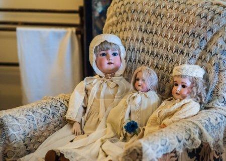 Mädchen, Antik, alt, Jahrgang, Spielzeug, ziemlich - B32598483