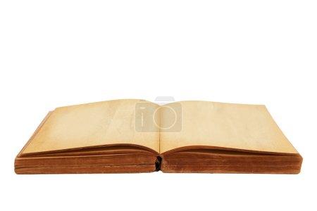 Photo pour Ouvert fond blanc de vieux livre isolé - image libre de droit