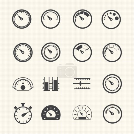 Meter icons. Vector...