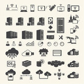 Wireless and Cloud Computing icons