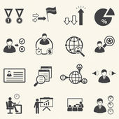 Human resource management and consulting business icons set vector set