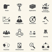 Business icons for IT Strategic planning Vector
