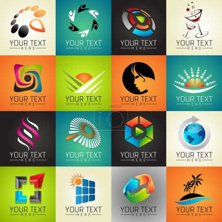 Illustration for Icons set of modern vector elements - Royalty Free Image