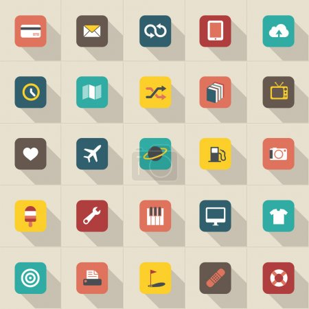 Modern information icons