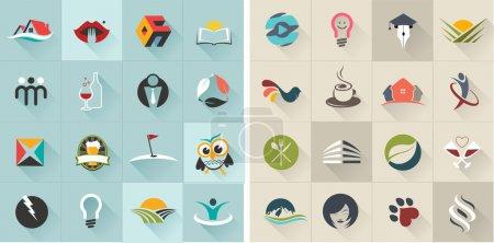 Illustration pour Ensemble de logos, icônes web, les entreprises et les symboles abstraits - vector illustration, graphisme - image libre de droit