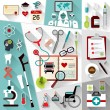 Set of medical flat design concept icons for web a...