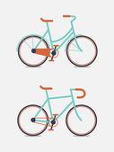 Retro bike vector illustration