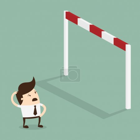 Illustration for Big problem, Business problems and conquering adversity concept - Royalty Free Image