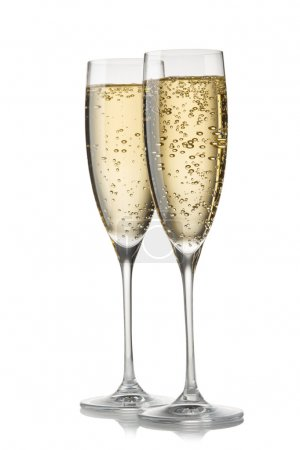 Photo for A glass of champagne, isolated on a white background. - Royalty Free Image