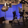 Empty television studio before going on air...