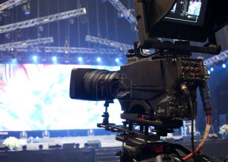 TV camera in a concert hall