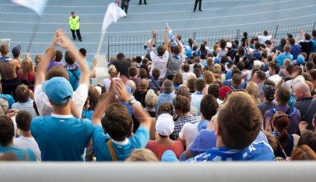 Fans at a stadium.