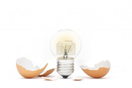 Innovation - Ideas Light Bulb Hatching