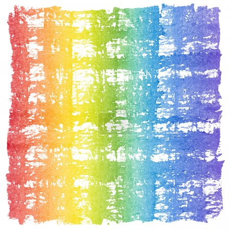 Abstract Watercolor Crosshatched Rainbow Frame