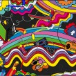 Background in style pop art...