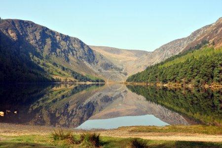 The upper lake in glendalough county wicklow ireland