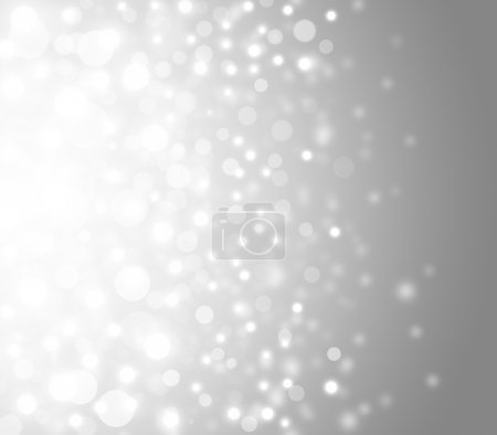 Grey Festive Christmas elegant abstract background with bokeh lights and stars