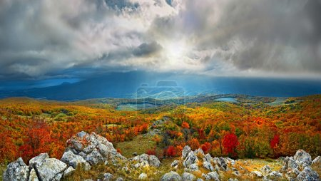 Photo for Autumn colors in crimean mountains - Royalty Free Image