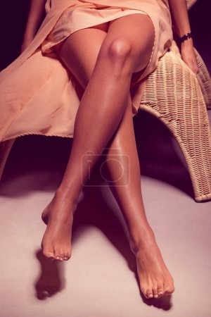 Photo for Legs of a woman in dark - Royalty Free Image