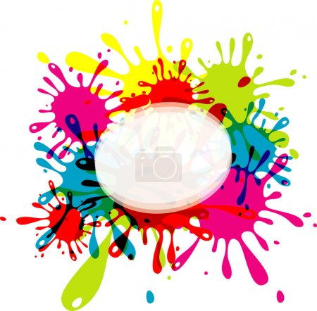 Blot abstract background, vector