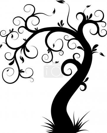 Illustration pour Arbre décoratif, illustration vectorielle - image libre de droit
