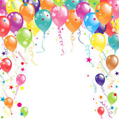 Color beautiful party balloons vector illustration