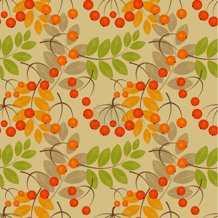 Rowan seamless pattern