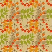 Rowan berry seamless texture Autumn vector illustration
